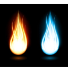 Dark background with flame vector image vector image