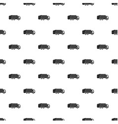 garbage truck pattern vector image vector image