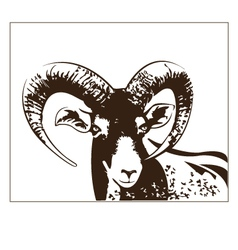 goat graphics vector image vector image
