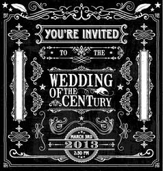 Wedding Invitation Design Elements vector image vector image