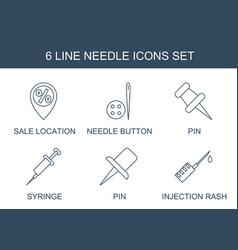 6 needle icons vector