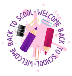 abstract back to school background with short vector image