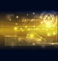 abstract hi-tech background in gold color vector image