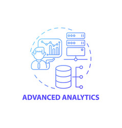 Advanced analytics concept icon vector