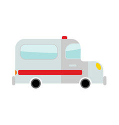 ambulance isolated transport on white background vector image