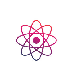 atom icon on white vector image