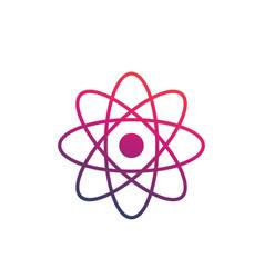 Atom icon on white vector