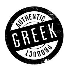 Authentic greek product stamp vector