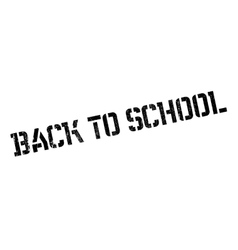 Back to school stamp vector