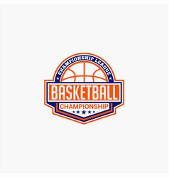 basketball club badge logo-5 vector image