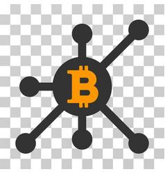 Bitcoin node icon vector