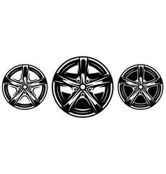 car metal rim set vector image