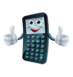 cartoon calculator man vector image