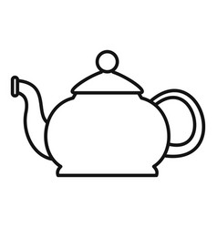 closed teapot icon outline style vector image