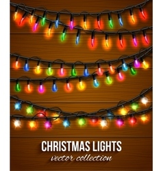 Colorful christmas light bulbs collection for vector