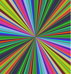 Colorful ray burst background design vector image