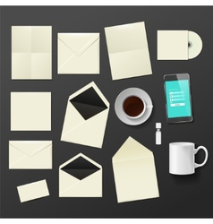 Corporate identity templates vector image
