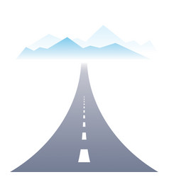 Country road highway perfect design the way to vector