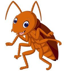 Cute cockroach vector