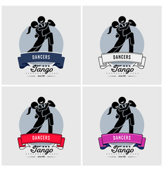 dancing club or class logo design artwork vector image