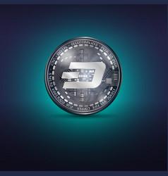 Dash metal coin vector