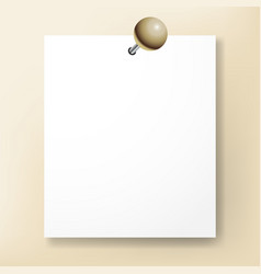Design element sheet of white paper hanging on the vector