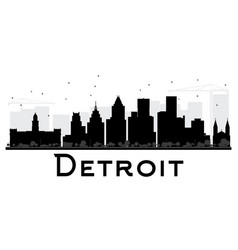 detroit skyline vector images 66 rh vectorstock com  detroit skyline vector free