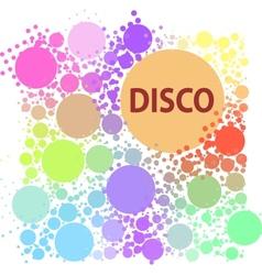 Disco background vector