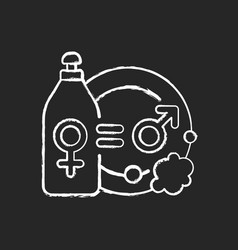 Division domestic labour chalk white icon on vector