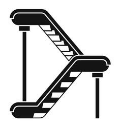 Double escalator icon simple style vector