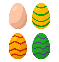 easter egg set symbol icon design vector image