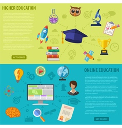 Education Banners vector