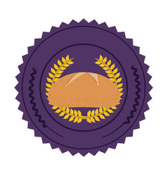 emblem breads symbol icon vector image