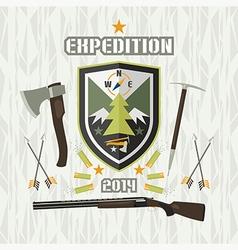 Expedition emblem vector