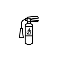 extinguisher icon flat design isolated vector image