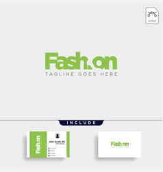 fashion shoe with simple flat negative logo type vector image