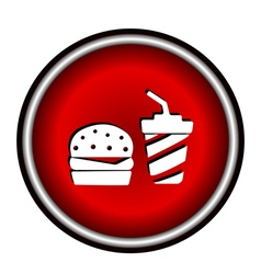 Fast food flat icon vector