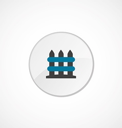 Fence icon 2 colored vector