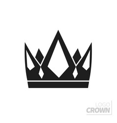 Flat crown isolated on white vector