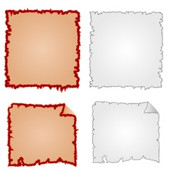 Frames or Damaged Equipment and tattered paper vector