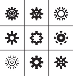 Gears and cogwheel icons set vector image