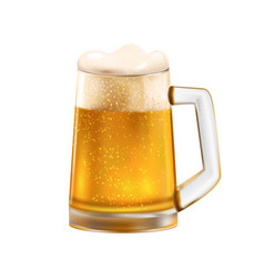 Glass beer composition vector
