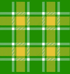 Green plaid pattern vector