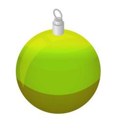 green xmas tree ball icon isometric style vector image