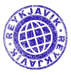 Grunge textured reykjavik stamp seal vector