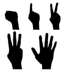 Hand Signals vector image