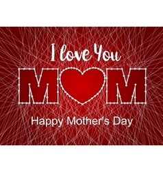happy mothers day heart thread vector image