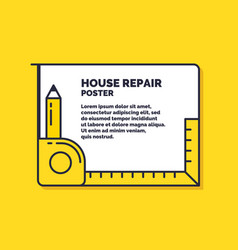 house repair poster design services for building vector image