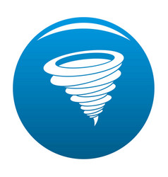 hurricane icon blue vector image