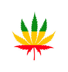 Illstration cannabis leaf icon flat vector